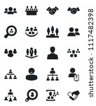 set of vector isolated black... | Shutterstock .eps vector #1117482398