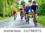 cyclists racing on country... | Shutterstock . vector #1117482572