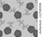 roses seamless pattern | Shutterstock .eps vector #1117483508