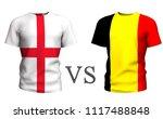 fifa cup. belgium vs england ....   Shutterstock . vector #1117488848
