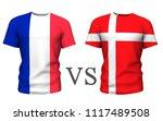 fifa cup. denmark vs france ....   Shutterstock . vector #1117489508
