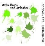 vector splashes  hand painted... | Shutterstock .eps vector #1117493702