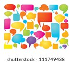colorful speech bubbles | Shutterstock .eps vector #111749438