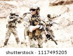 group of well equipped us army... | Shutterstock . vector #1117495205