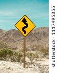 road sign in joshua tree... | Shutterstock . vector #1117495355