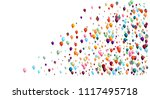 realistic bright colored helium ... | Shutterstock .eps vector #1117495718