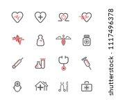 simple medical icon set  basic... | Shutterstock .eps vector #1117496378
