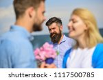 couple in love happy dating ... | Shutterstock . vector #1117500785