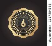 6 years golden anniversary logo ... | Shutterstock .eps vector #1117504586