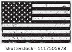 american grunge flag.black and... | Shutterstock .eps vector #1117505678