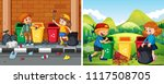a set of children cleaning... | Shutterstock .eps vector #1117508705