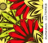 seamless floral background.... | Shutterstock .eps vector #1117509818