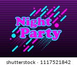 night party  abstract... | Shutterstock .eps vector #1117521842