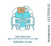 job interview concept icon.... | Shutterstock .eps vector #1117525112
