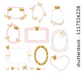 set of cute princess photo... | Shutterstock .eps vector #1117526228