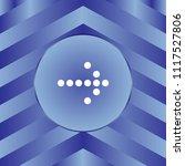white arrow icon on blue... | Shutterstock .eps vector #1117527806