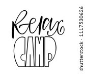 relax camp. isolated vector ... | Shutterstock .eps vector #1117530626