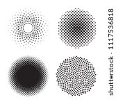 halftone circle. set of black... | Shutterstock .eps vector #1117536818