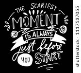 the scariest moment is always...   Shutterstock .eps vector #1117537055