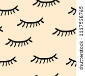 lashes seamless pattern | Shutterstock .eps vector #1117538765