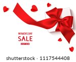 womens day sale template design.... | Shutterstock .eps vector #1117544408