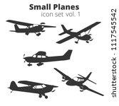 small planes vector... | Shutterstock .eps vector #1117545542