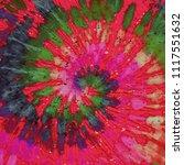 tie dye pattern. hand drawn... | Shutterstock . vector #1117551632