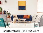 yellow and navy blue painting... | Shutterstock . vector #1117557875