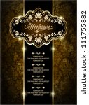 vintage ornate card design for... | Shutterstock .eps vector #111755882