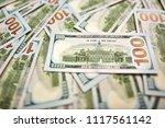 macro shot of a new 100 dollar... | Shutterstock . vector #1117561142
