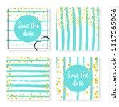 wedding invite set with glitter ...   Shutterstock .eps vector #1117565006