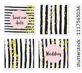 wedding glitter confetti on...   Shutterstock .eps vector #1117565036