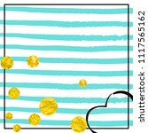 wedding glitter confetti with...   Shutterstock .eps vector #1117565162