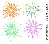 fireworks on white background ... | Shutterstock .eps vector #1117581215