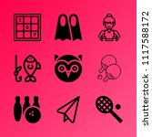 vector icon set about hobby... | Shutterstock .eps vector #1117588172