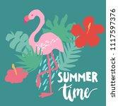 minimal vacation trendy vector... | Shutterstock .eps vector #1117597376