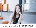 close up outdoor portrait of a... | Shutterstock . vector #1117599302