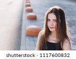 close up outdoor portrait of a... | Shutterstock . vector #1117600832
