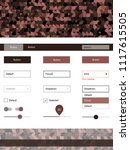 dark pink vector ui kit with...