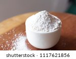 calcium sulfate on bowl | Shutterstock . vector #1117621856