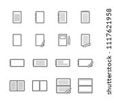 simple notebook paper icon set  ... | Shutterstock .eps vector #1117621958