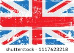 uk grunge flag.vector old flag... | Shutterstock .eps vector #1117623218