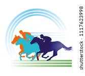 horse racing on the race track  ... | Shutterstock .eps vector #1117623998