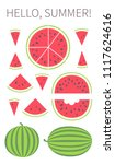 vector illustration  set of 13... | Shutterstock .eps vector #1117624616
