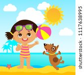 happy holidays. cute summer... | Shutterstock .eps vector #1117638995