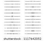 vector illustration. set of... | Shutterstock .eps vector #1117642052