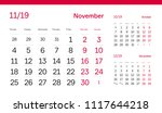 november page. 12 months... | Shutterstock .eps vector #1117644218