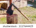 medieval ax long range melee... | Shutterstock . vector #1117644425