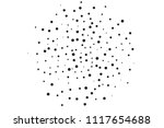 black dots of different sizes... | Shutterstock .eps vector #1117654688