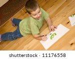 boy painting | Shutterstock . vector #11176558